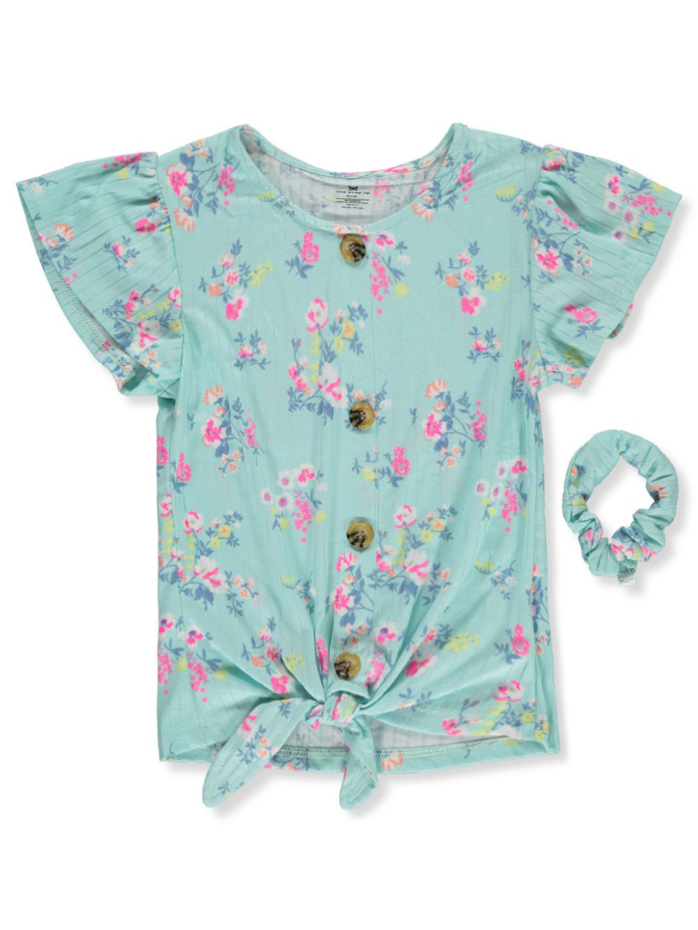 Floral Peasant Top With Scrunchie