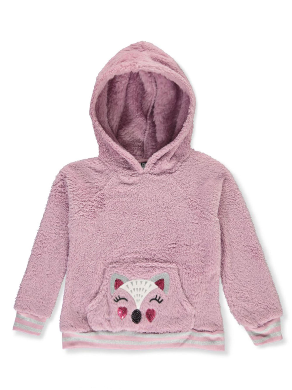 Girls White and Multicolor Hoodies