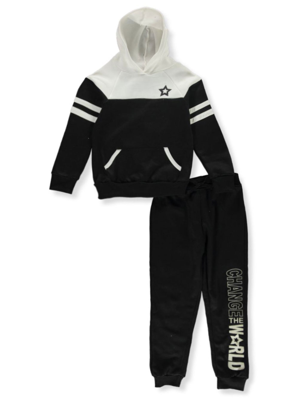 Girls Black Multicolor Sets