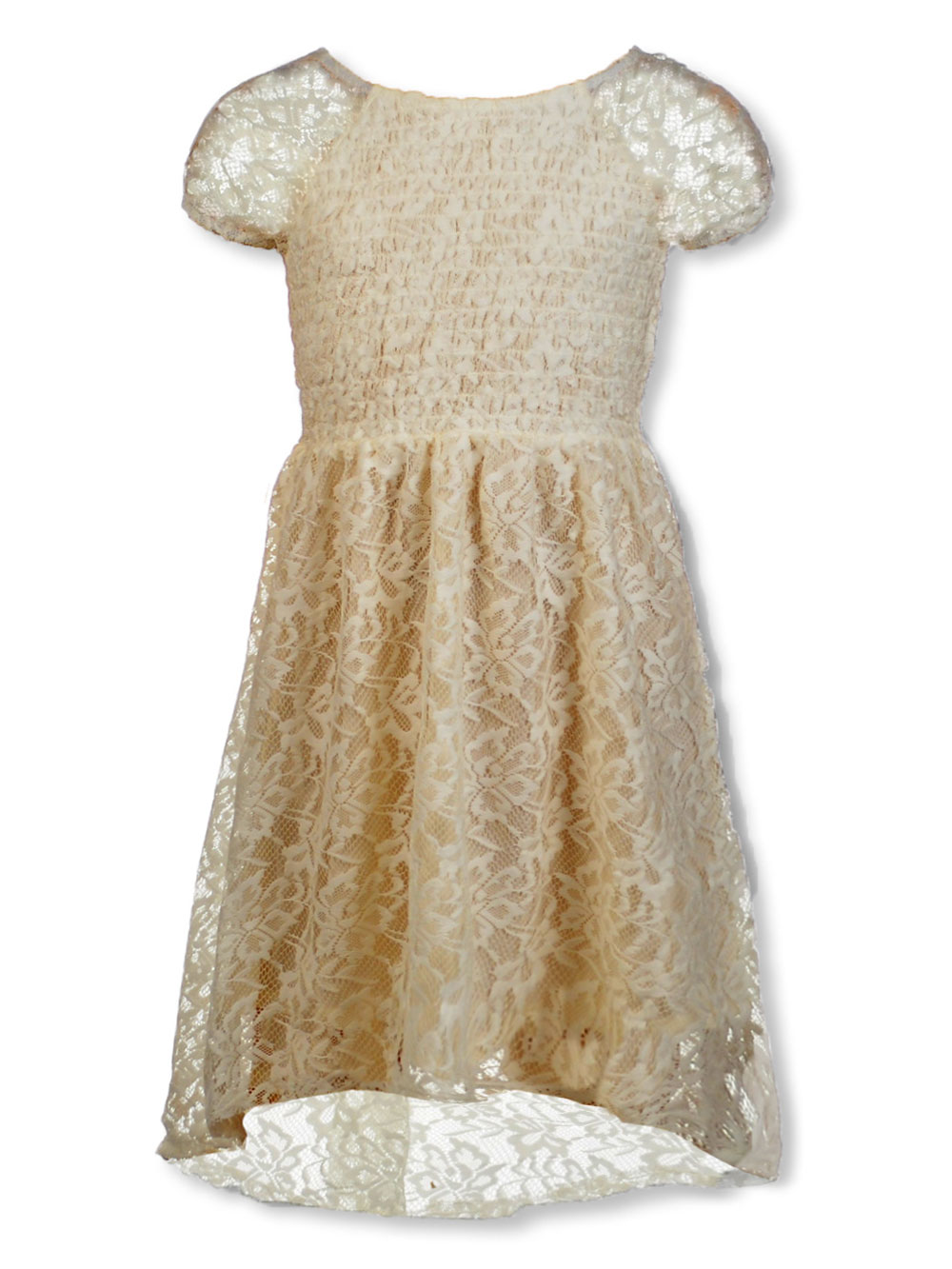 Girls Ivory Casual Dresses