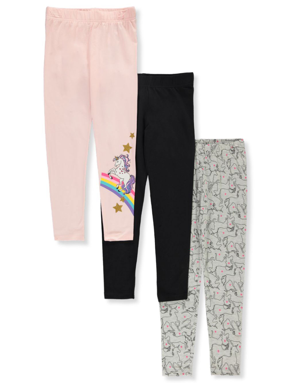 Girls' 3-Pack Leggings