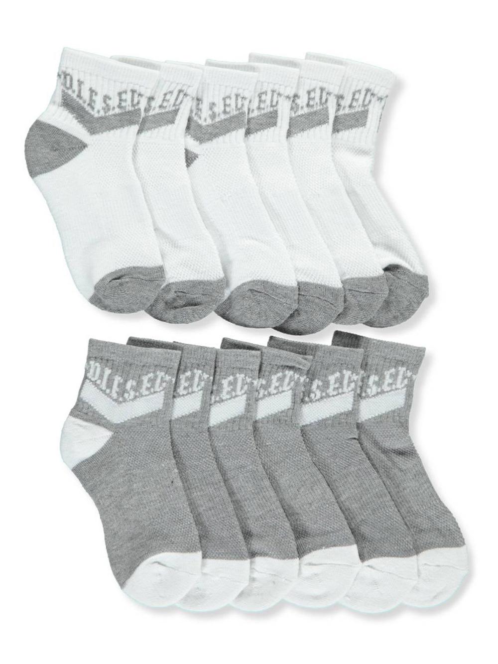 041ff747fbdc Boys' 6-Pack Crew Socks by Diesel in White/gray