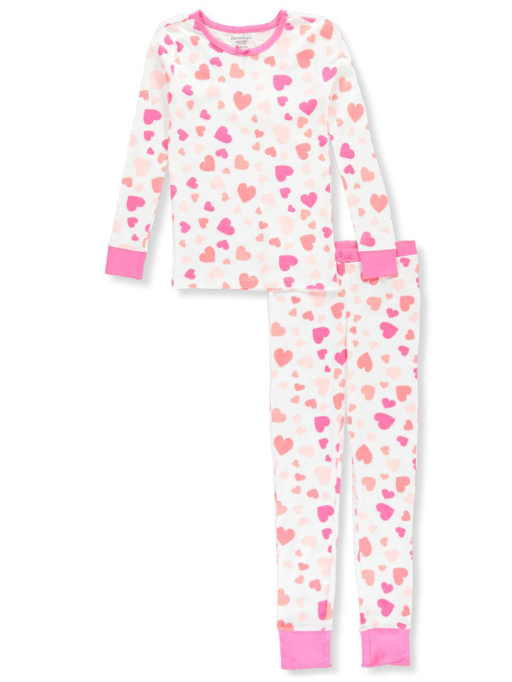 THERMAL KNIT PAJAMA SET features Pink Hearts fits American Girl