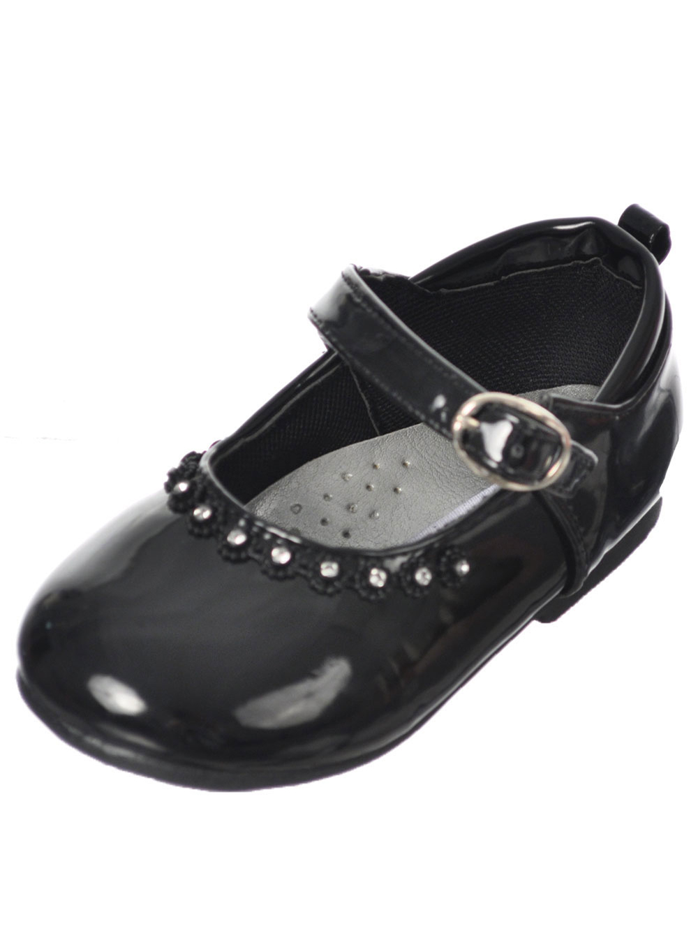 Tendertoes Bejeweled Mary Jane Shoes (Infant Girls Sizes 2 - 6) - black, 5 infant