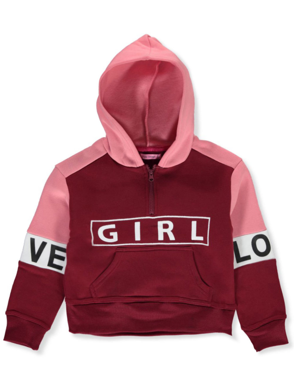 Girls Light Gray Hoodies