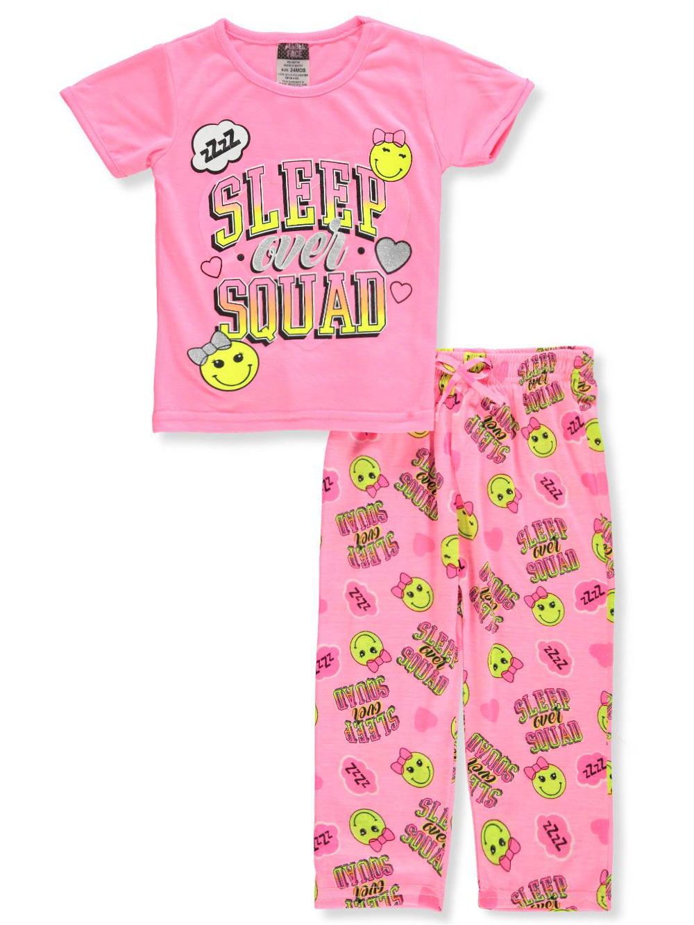 Baby Girls' 2-Piece Pajamas by Angel Face in Pink/multi