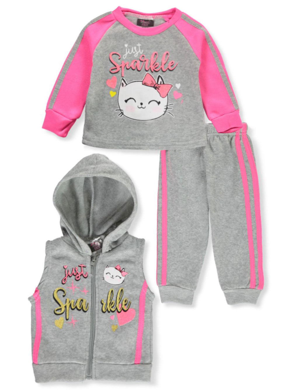 Active Sets 3-Piece Sweatsuit Outfit
