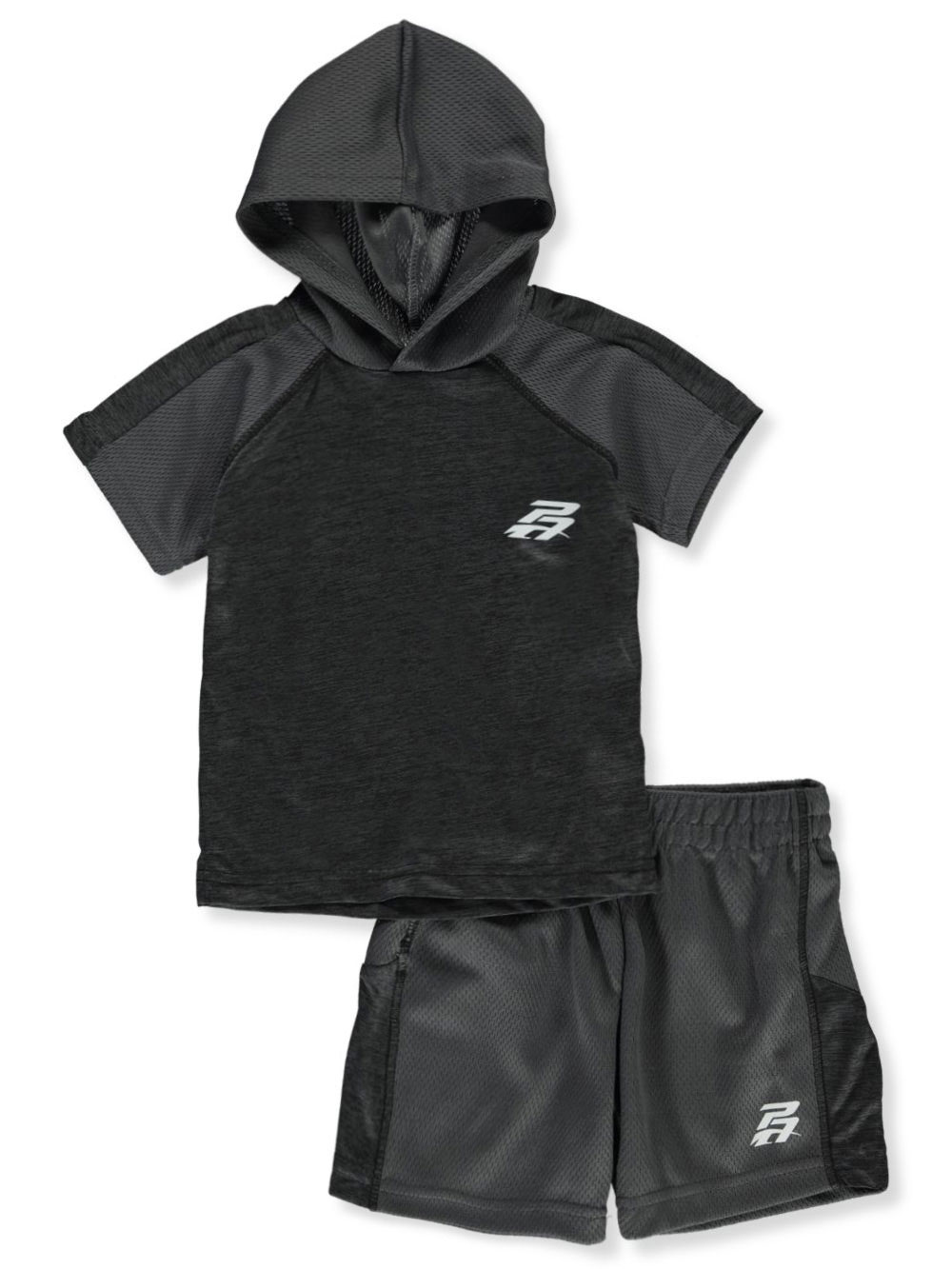 Boys Charcoal and Gray Short Sets