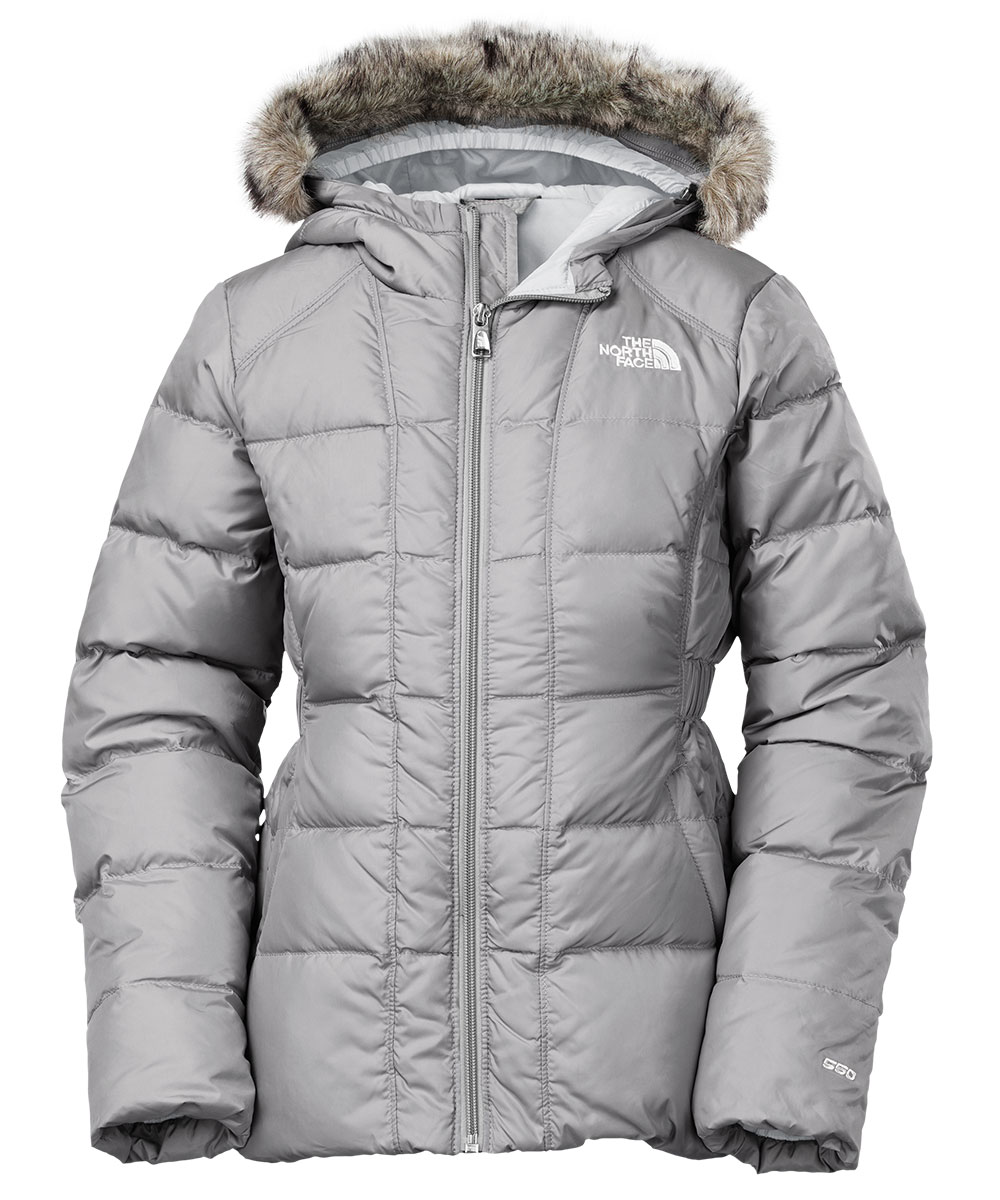 The North Face Girls' Youth Gotham Down Jacket (Sizes S - XL) - metallic silver/high rise grey, s