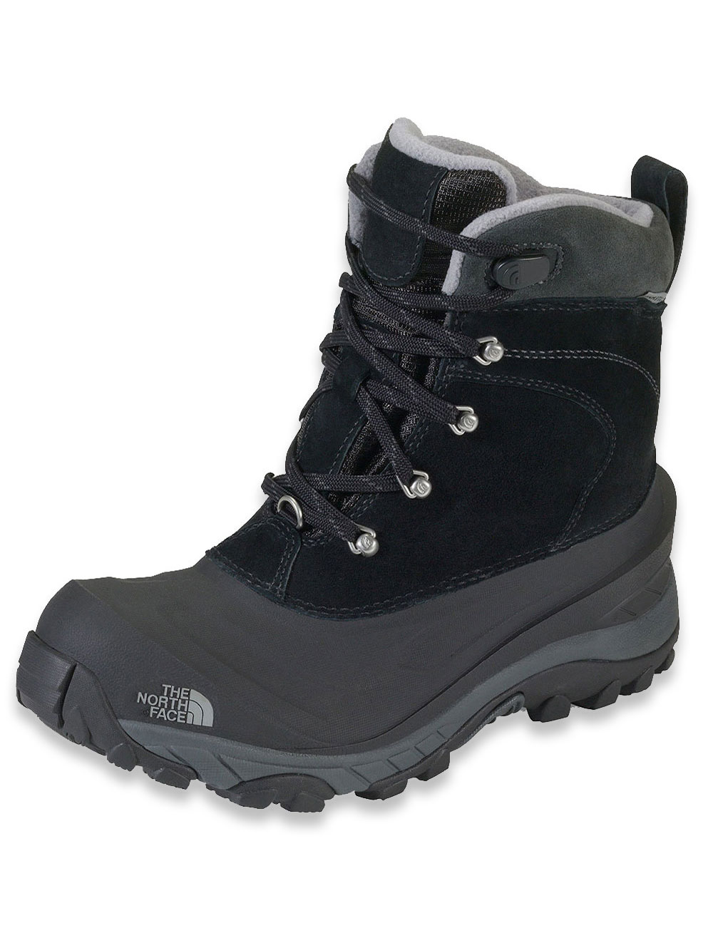 The North Face Boys' Chilkat II Boot (Youth Sizes 8 - 12) - black/griffin gray, 12 youth