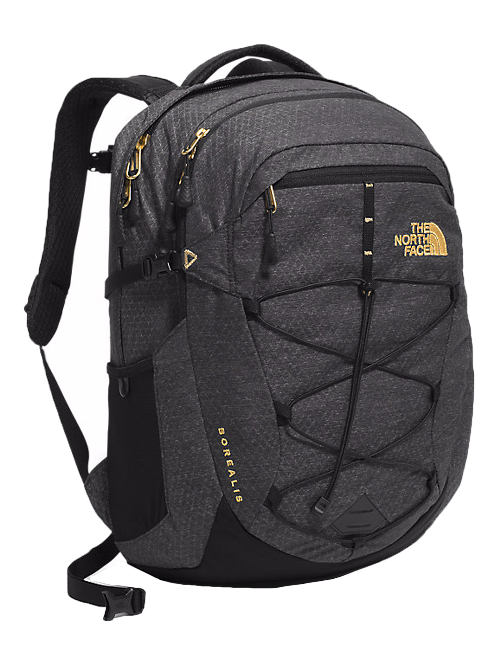 The North Face Borealis Backpack - Women's - black/24k gold, one size