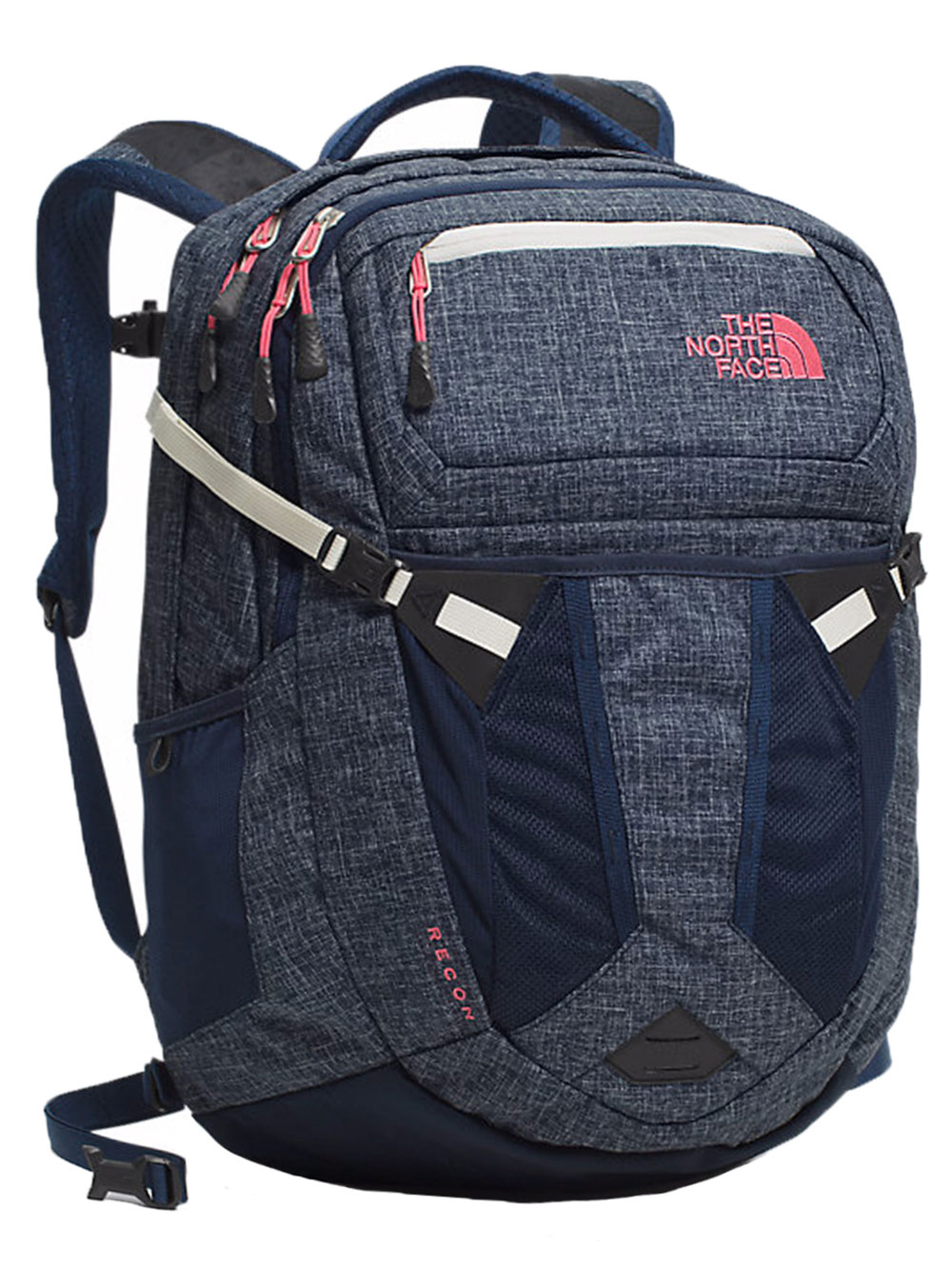 The North Face Recon Backpack - Women's - cosmic blue heather/calypso coral, one size