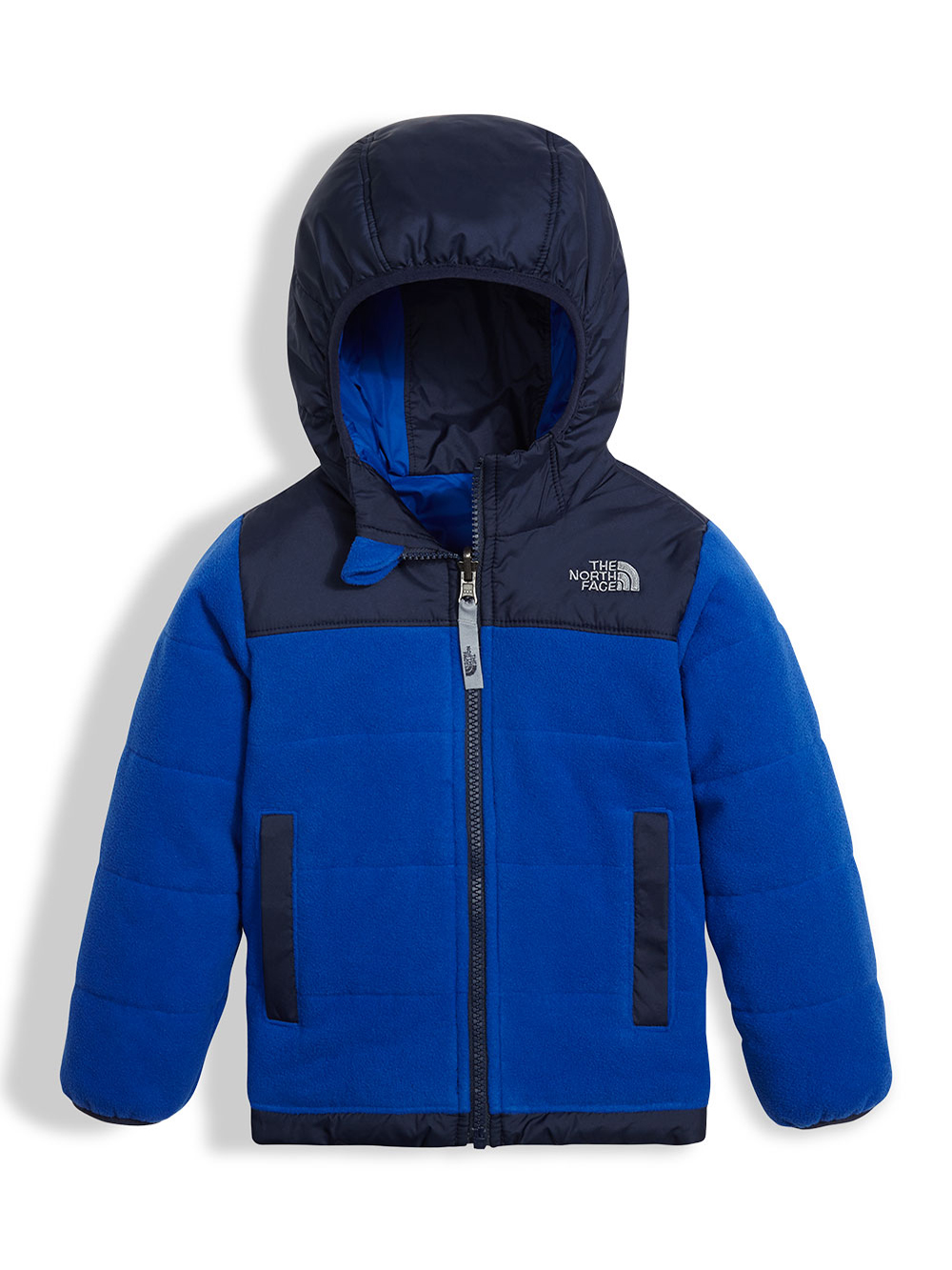 cff0678ee Toddler Reversible True/False Jacket by The North Face in bright cobalt  blue and red