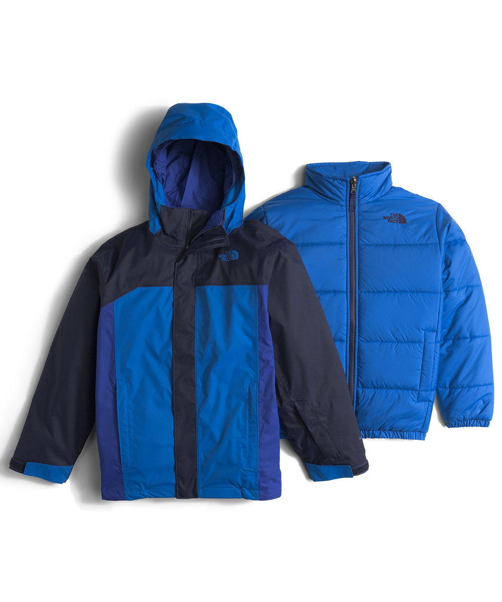 The North Face Big Boys' Boundary Triclimate Jacket (Sizes 8 - 20) - cosmic blue, m/10-12