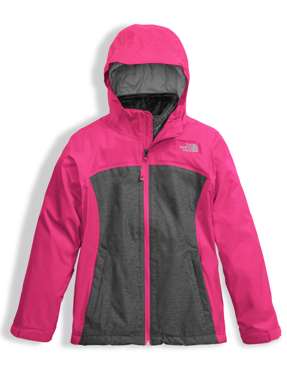 cd5872d85 Little Girls' Osolita Jacket by The North Face in bellflower purple and  petticoat pink