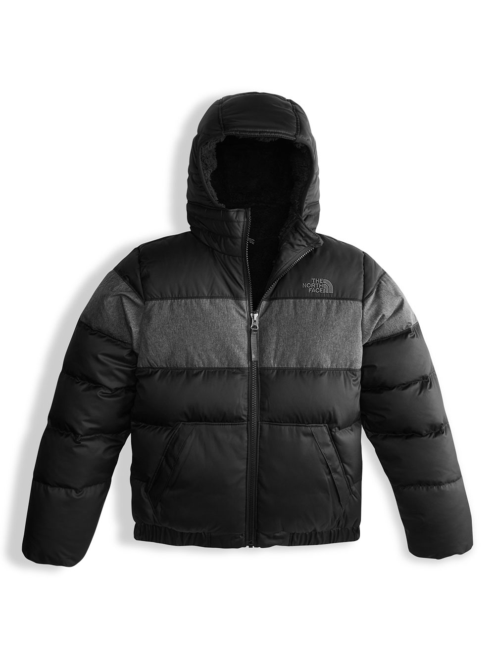 4817dd8a5 Big Boys' Moondoggy 2.0 Down Hoodie by The North Face in bright ...