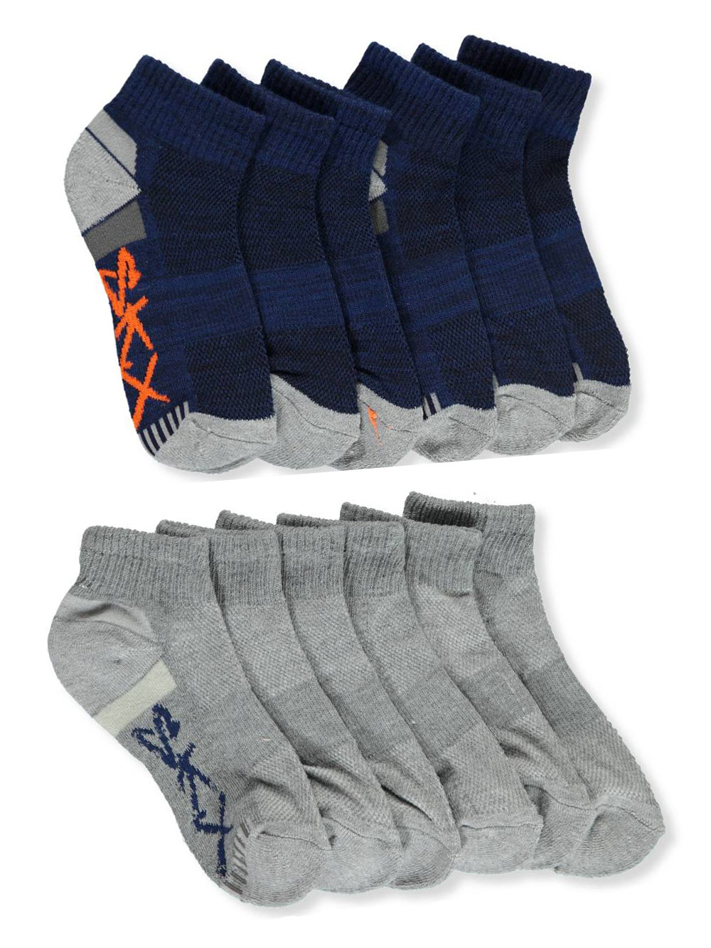 Toddler and Youth 6-Pack Low-Cut Socks