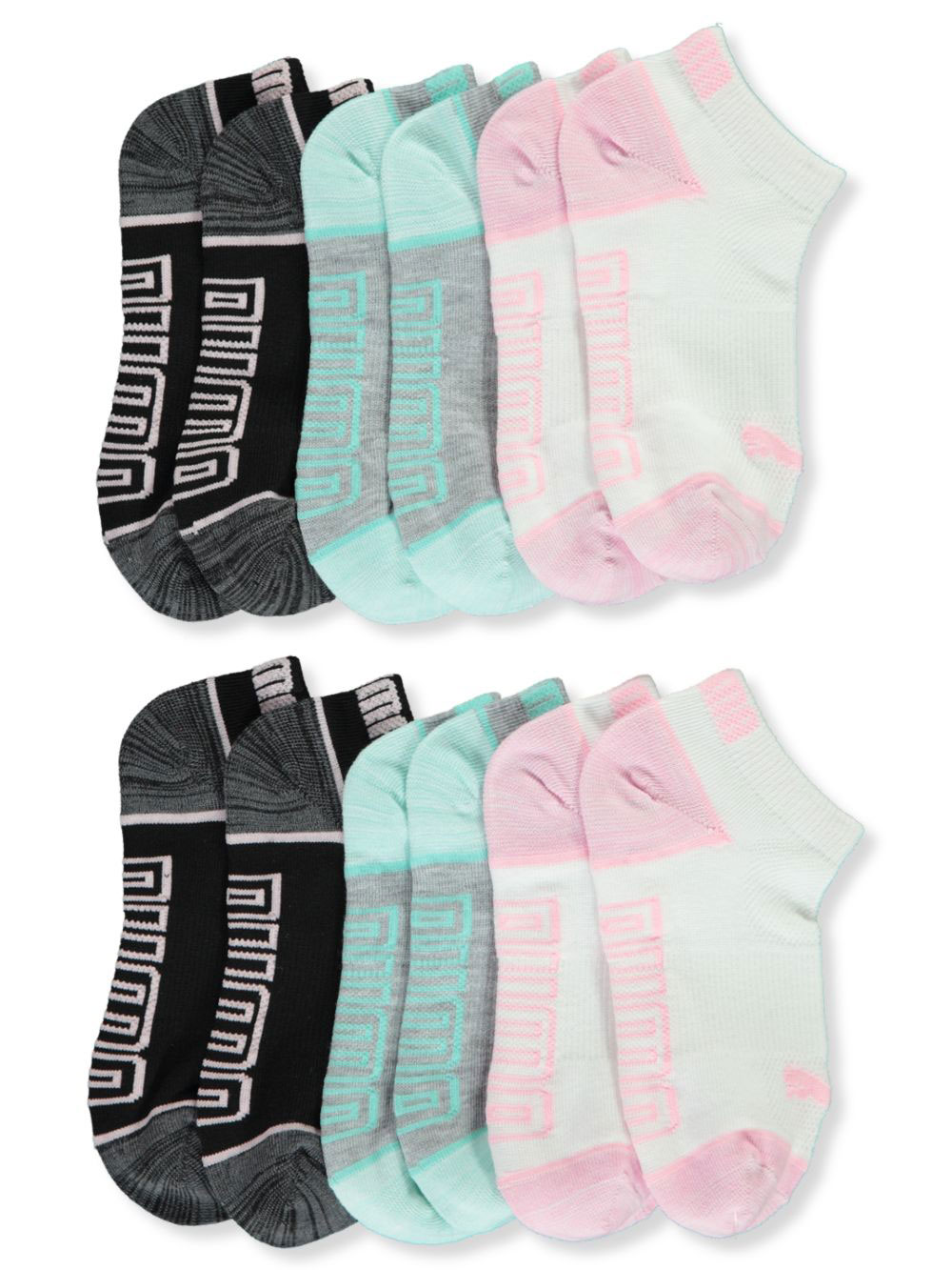 Girls' 6-Pack DryCell Training Low-Cut Socks