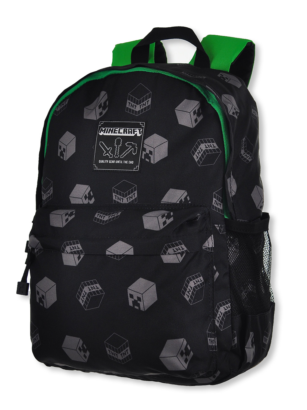 Boys Black and Green Backpacks