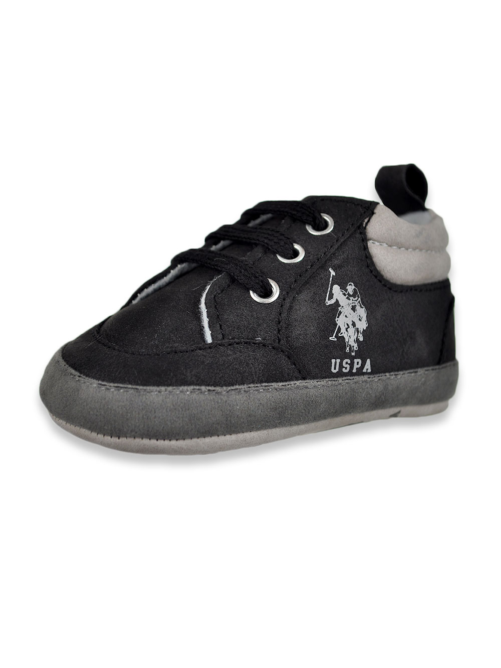 Baby Boys' Suede-Look Boot Booties
