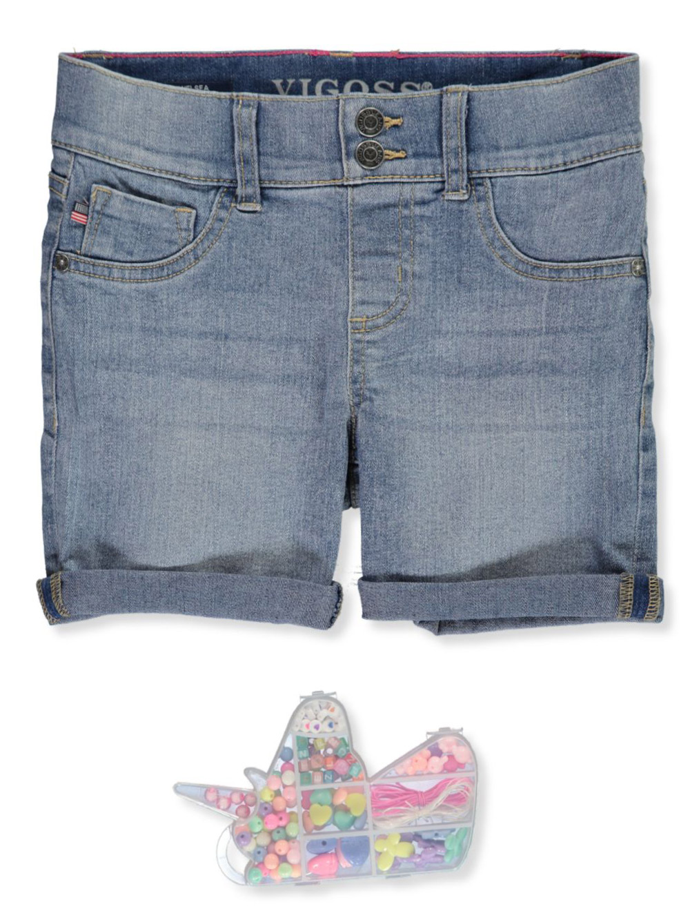 Girls' Stretch Denim Shorts
