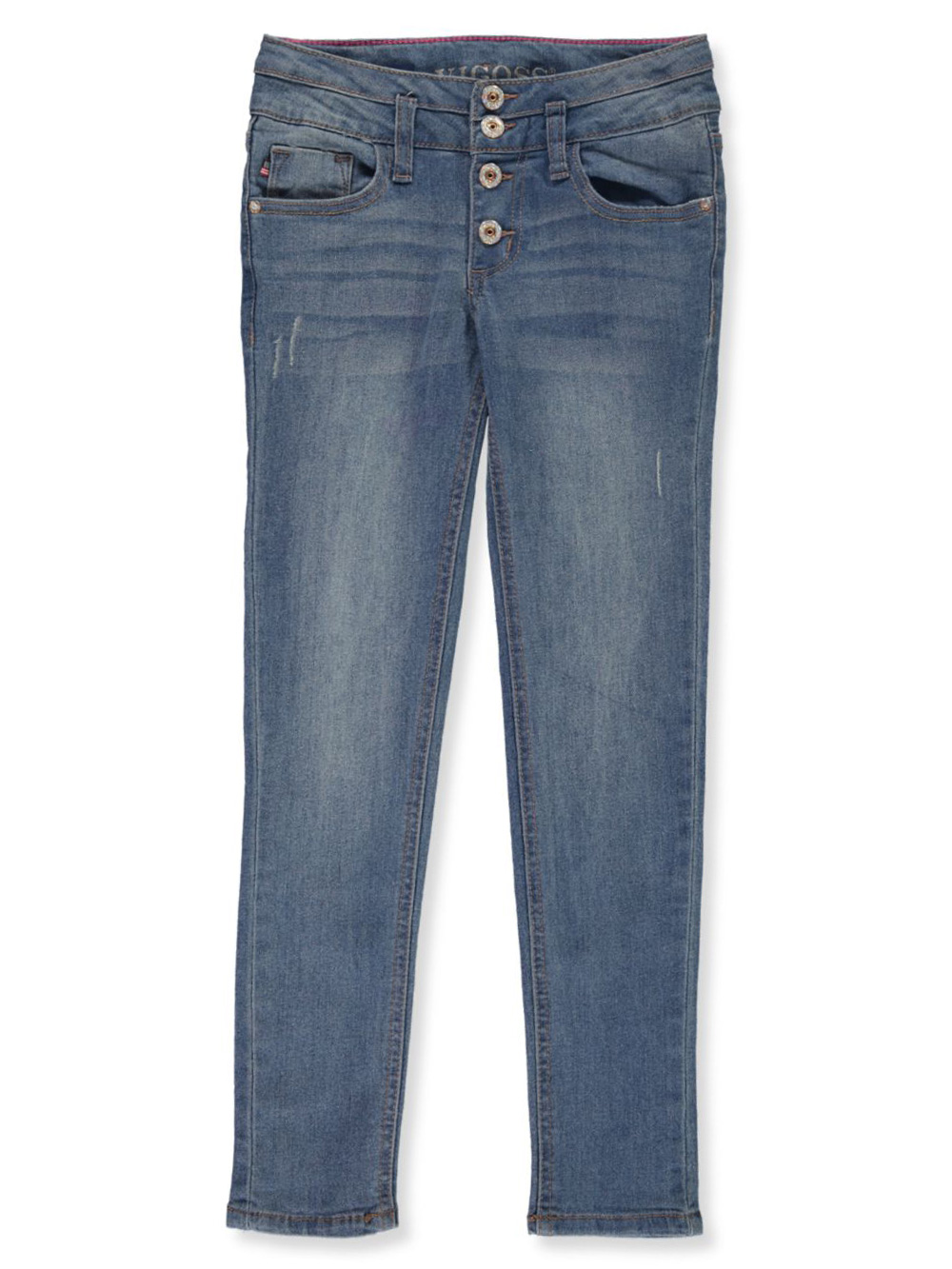 Girls' Button Fly Skinny Jeans