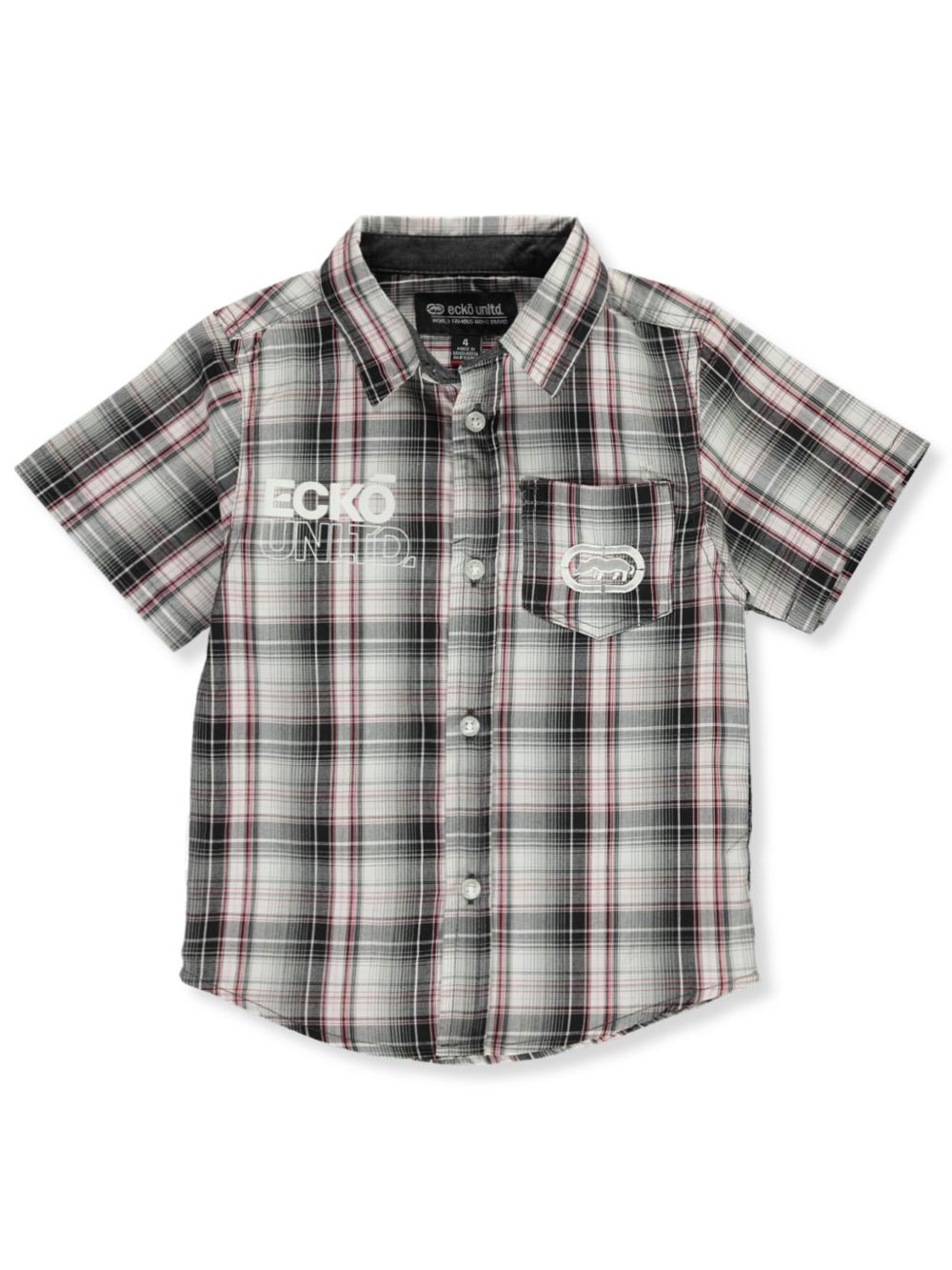 Boys Black Button-Downs