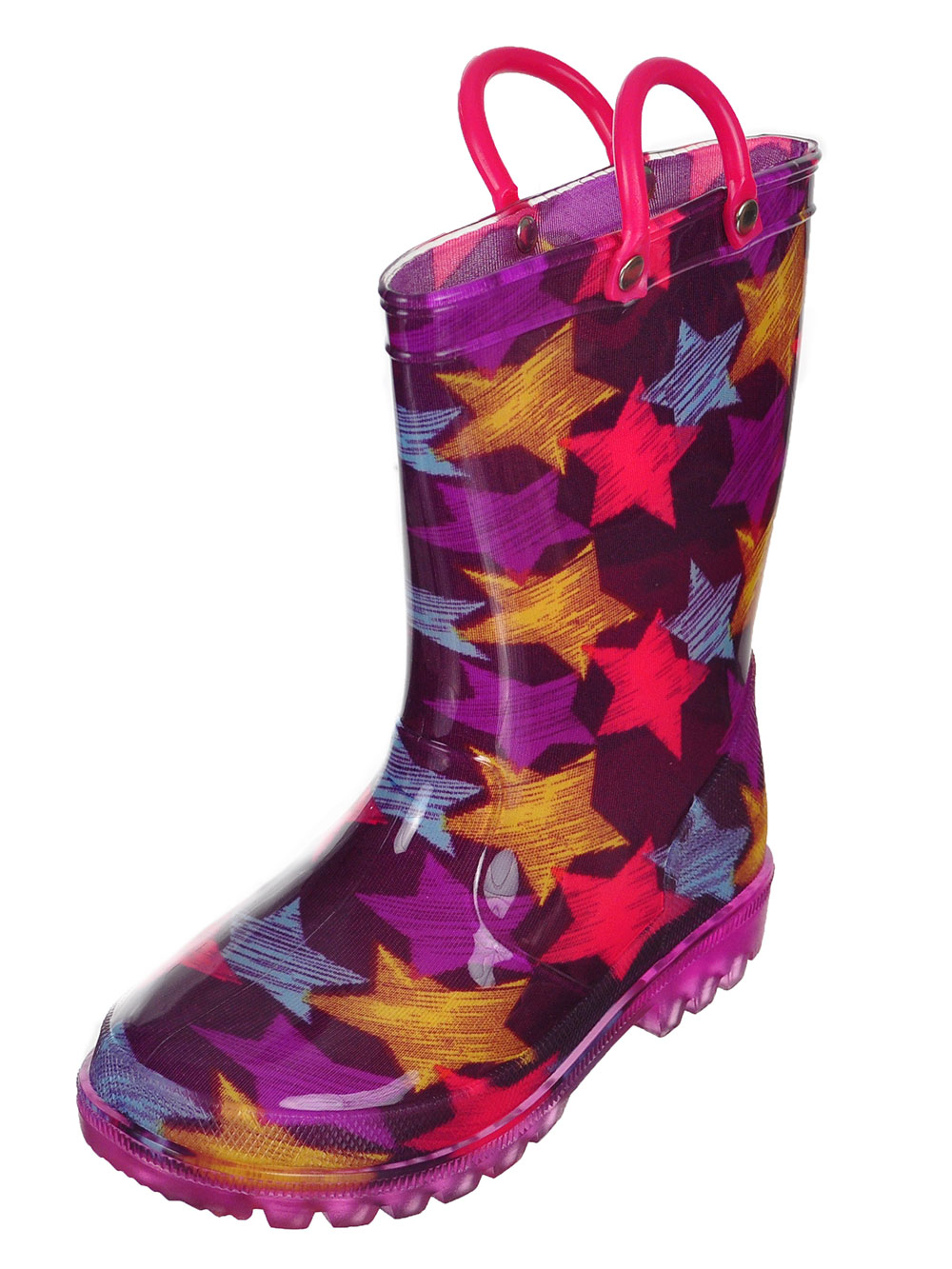 Girls' Light-Up Rubber Rain Boots