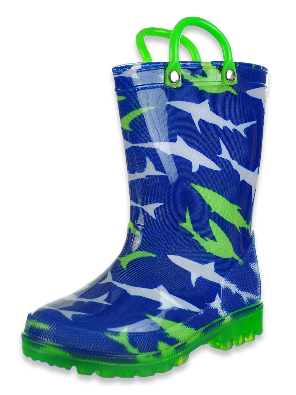 Boys' Light-Up Rubber Rain Boots