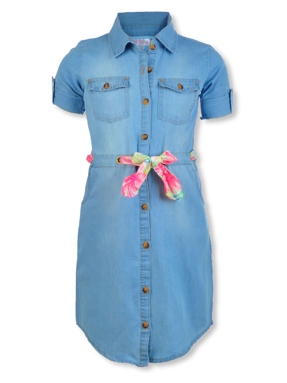 Girls Light Denim Casual Dresses