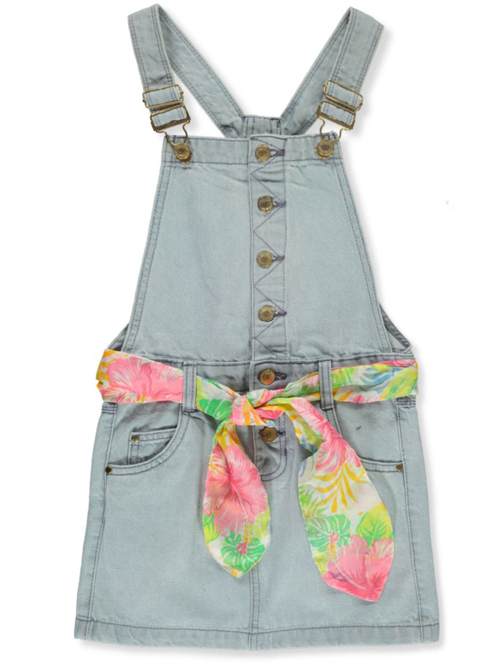 Girls Medium Denim Overalls and Jumpers