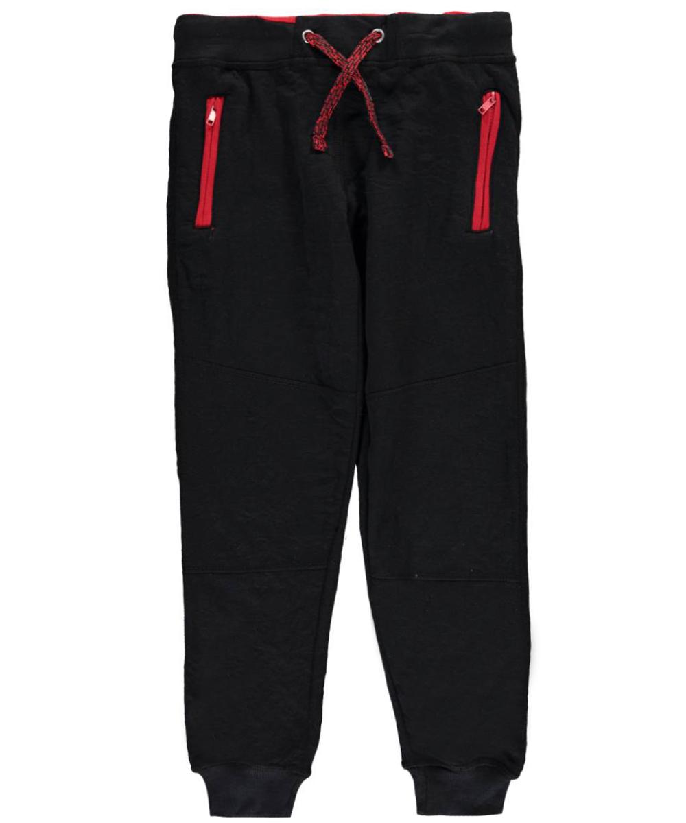Image of Urban Republic Big Boys Zigzag Sweatpants Sizes 8  20  blackred 1416