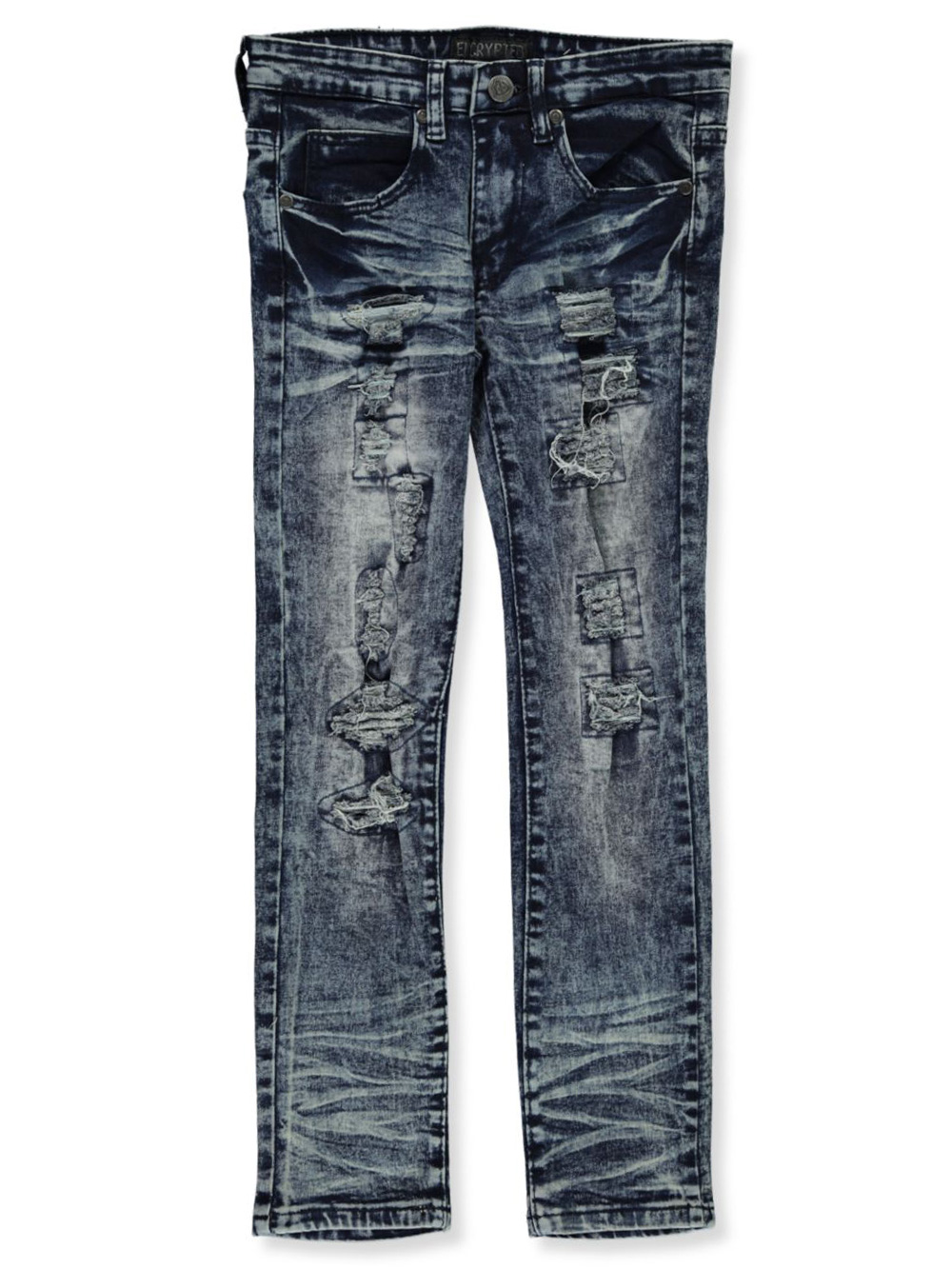 Jeans Vertical Rip Accents