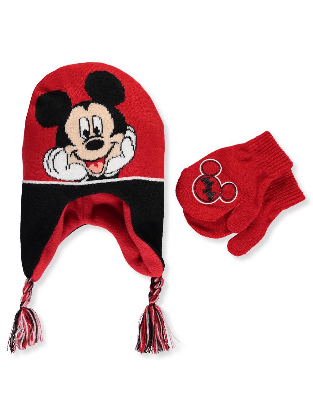 e1c58cd7721 Disney Mickey Mouse Boys  Beanie   Mittens Set (Toddler One Size)