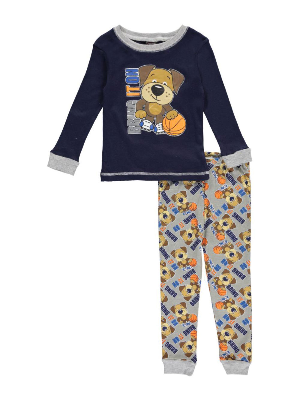 Image of Mac Henry Little Boys Toddler Bring It On 2Piece Pajamas Sizes 2T  4T  navymulti 4t