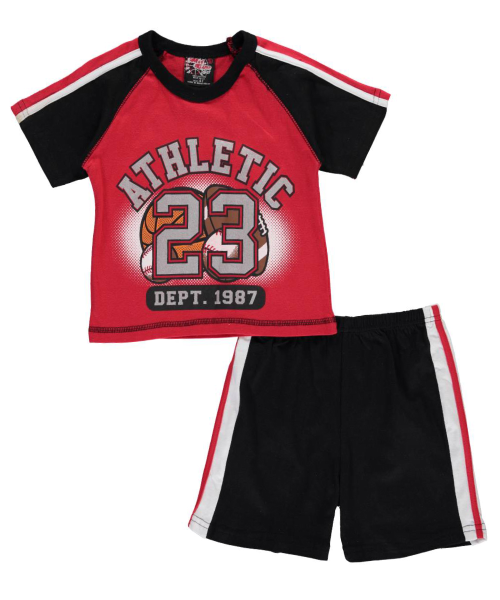 Image of Mad Game Little Boys Toddler Athletic 23 2Piece Outfit Sizes 2T  4T  red 4t