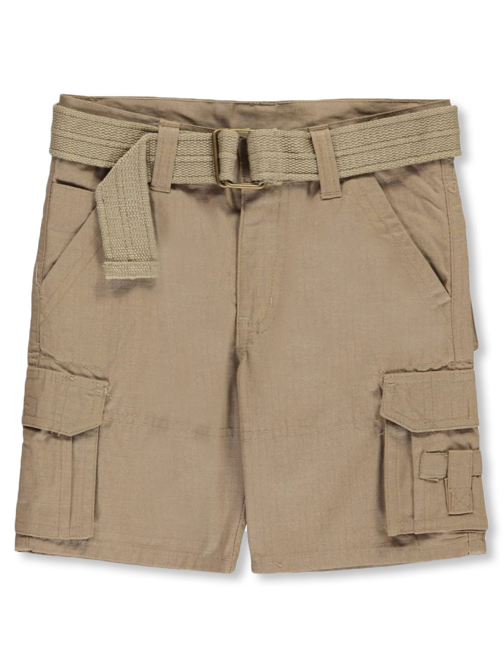 Quad Seven Boys Ripstop Belted Cargo Shorts