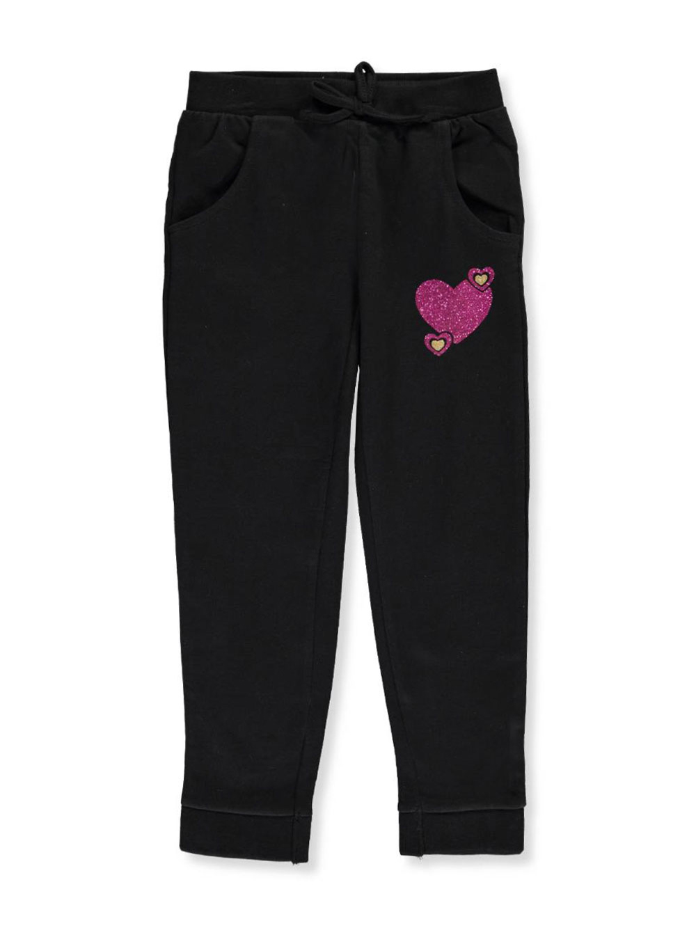 "Real Love Little Girls' ""Bubble Hearts"" Joggers (Sizes 4 – 6X) - CookiesKids.com"