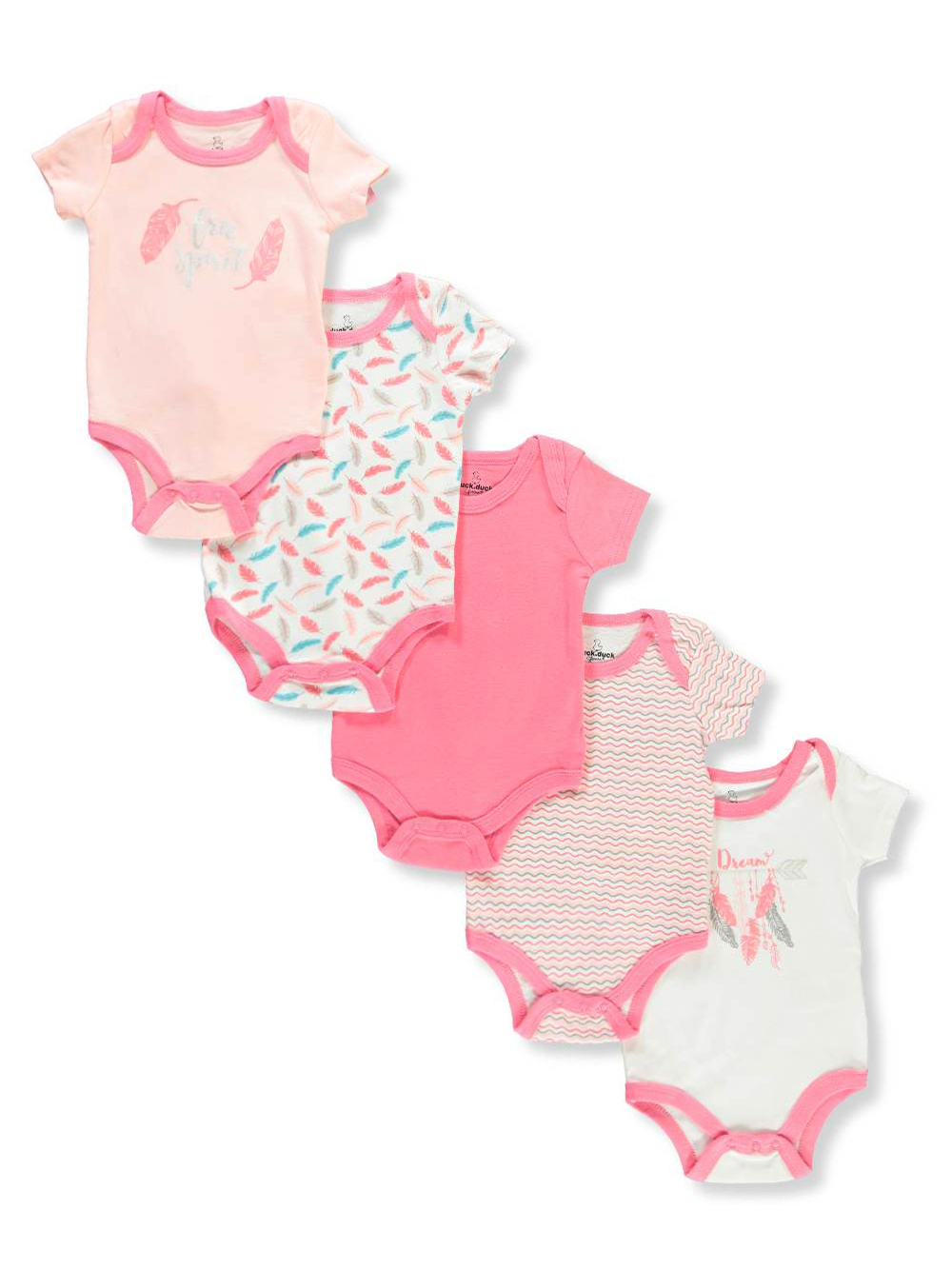 Duck Duck Goose Baby Girls 5 Pack Bodysuits