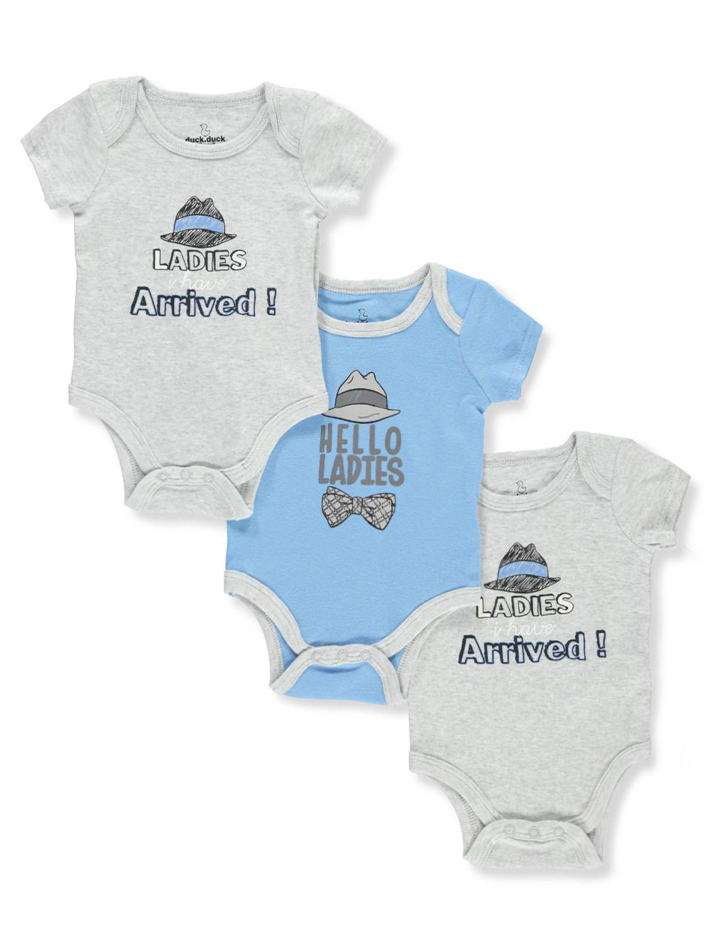 Duck Duck Goose Baby Boys 3 Pack Bodysuits