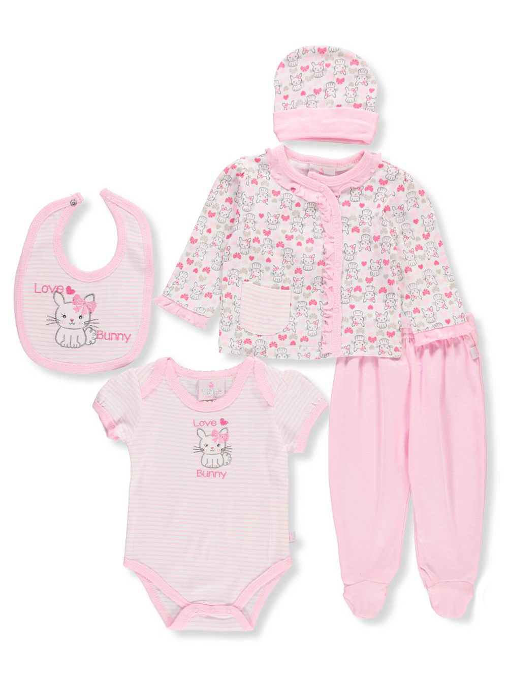 Duck Duck Goose Baby Girls 5 Piece Layette Set