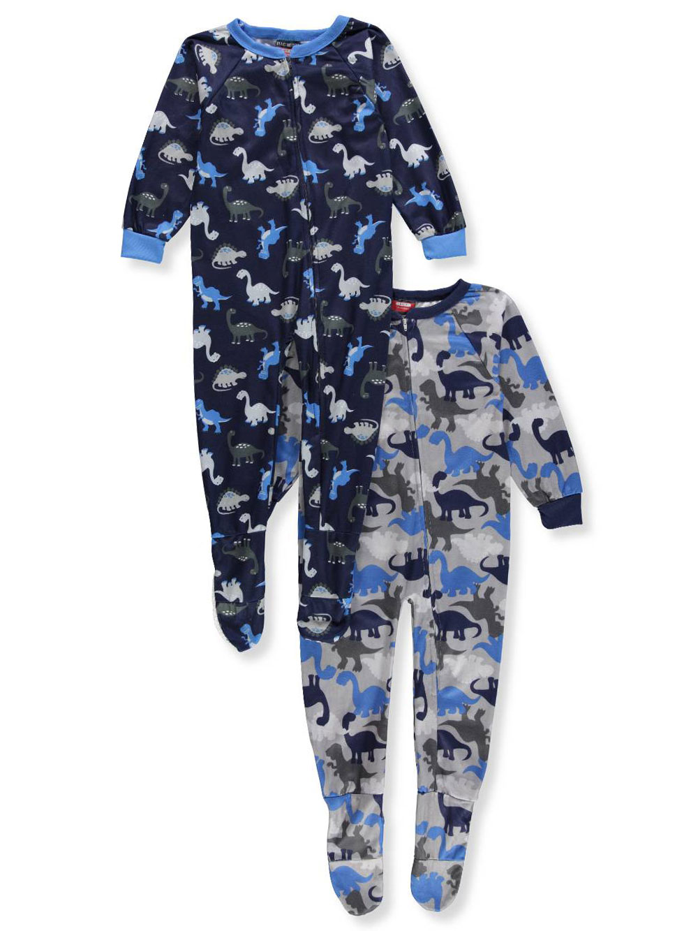 7c89d03baa Mac Henry Boys  2-Pack 1-Piece Footed Pajamas