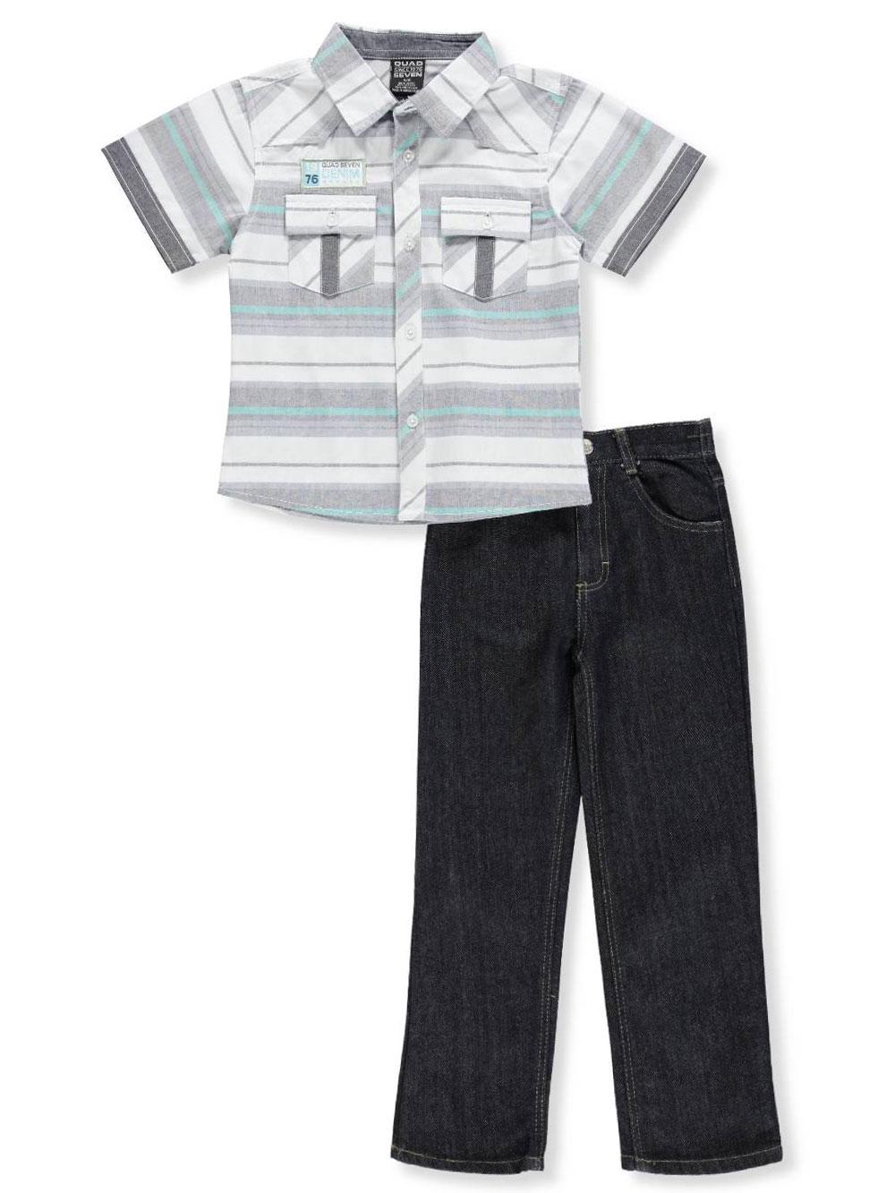3c07c2383 Quad Seven Boys' 2-Piece Pants Set Outfit