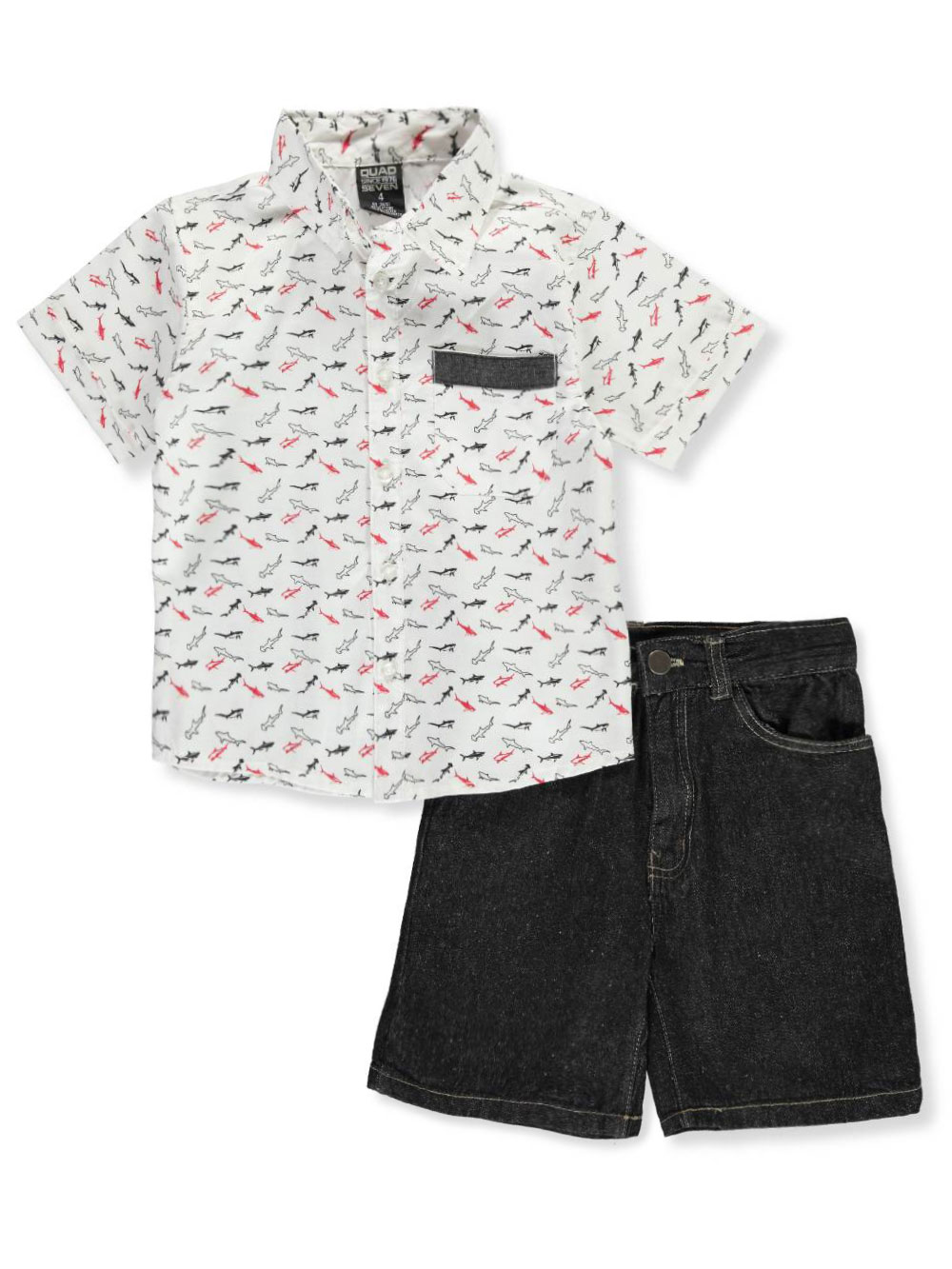 ce690e7ddc7 Boys  2-Piece Shorts Set Outfit by Quad Seven in blue and white from ...