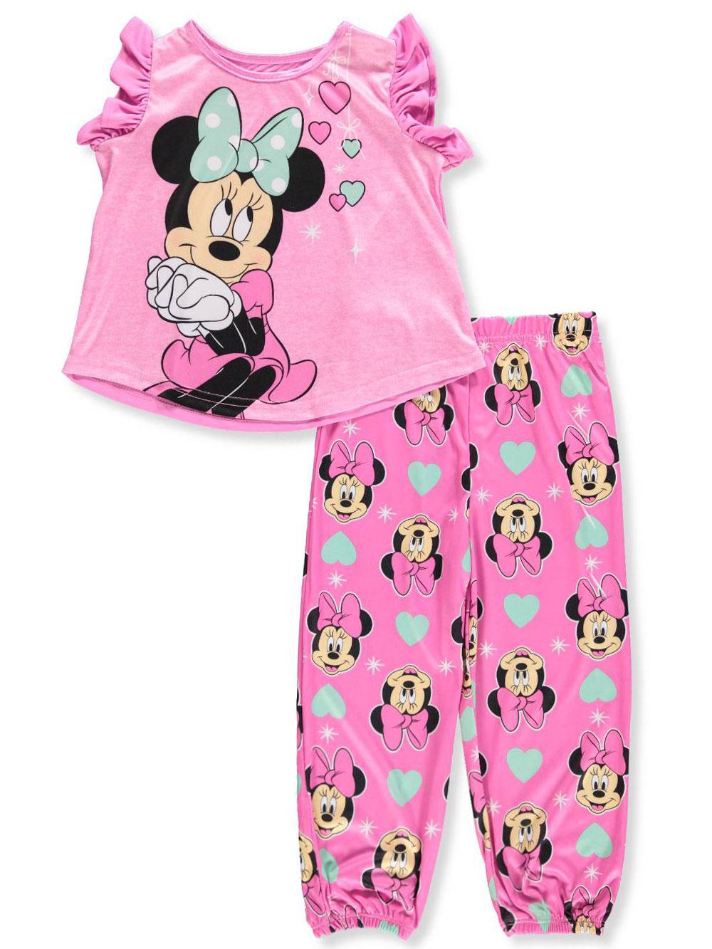 012a19a4c Disney Minnie Mouse Girls  2-Piece Pajamas