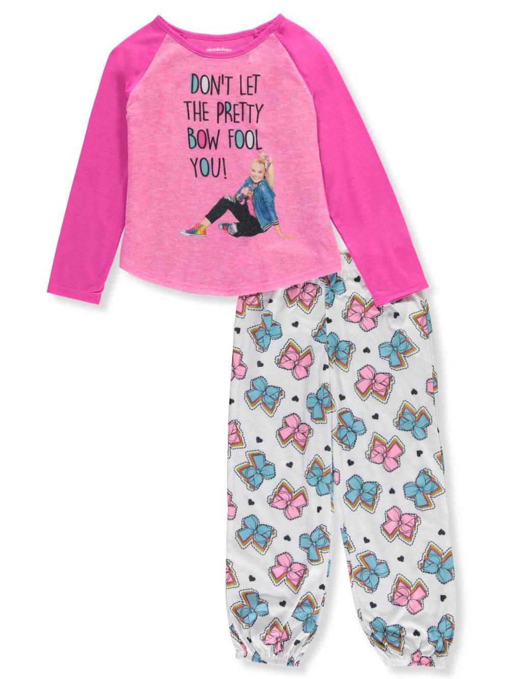 Jojo Siwa Girls' Pretty Bow 2-Piece Pajamas