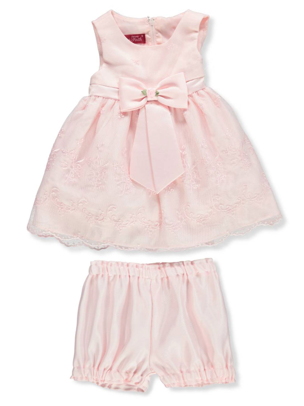 c9392db67 Princess Faith Baby Girls  Dress with Diaper Cover