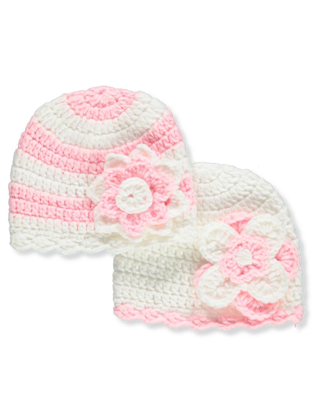 dad778471658 Laura Ashley Baby Girls  2-Pack Crocheted Caps