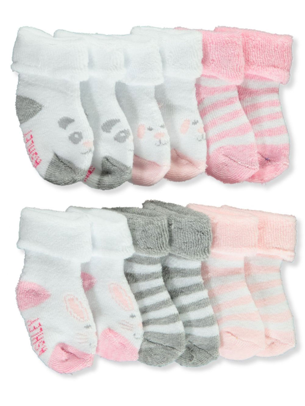 Laura Ashley Baby Girls/' 6-Pack Socks