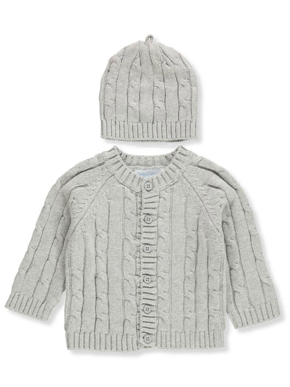 Baby Dove Cable Knit Cardigan /& Beanie Set